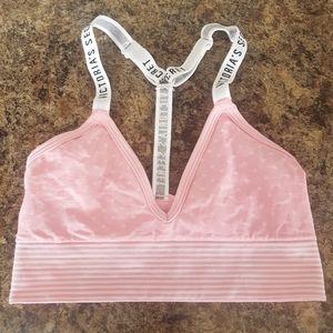 🌷 3/$35 pink white Victoria's Secret bralette XXS
